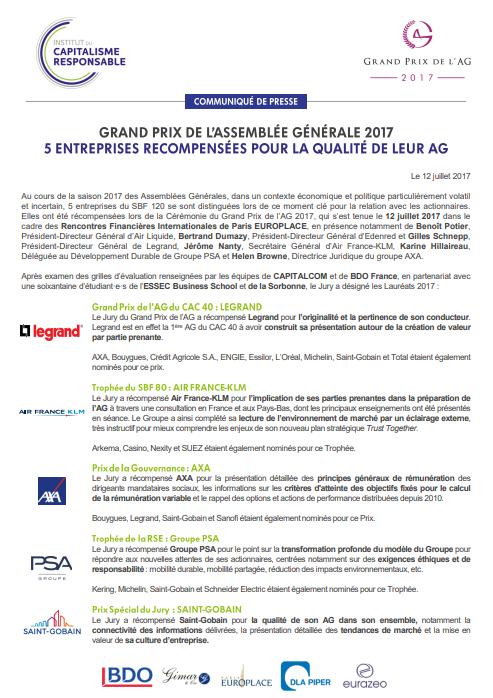 CP Grands Prix de lAG 2017